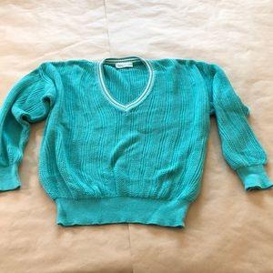 Sweaters - VINTAGE Teal Varsity Sweater